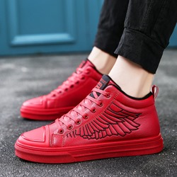 Casual Lace-Up Embroidery Sneakers