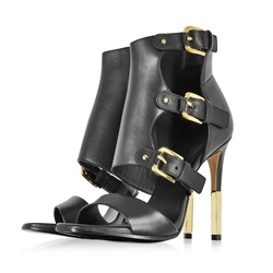 Open Toe Stiletto Heel Boots Heel Covering Sandals