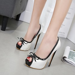 Sexy Platform Peep Toe High Stiletto Heels