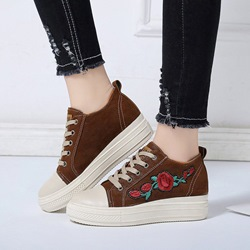 Floral Short Floss Women's Casual Shoes