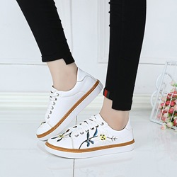 Floral Lace-Up Platform Women's Sneakers