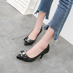 Rhinestone Bownot Stiletto Heel Pumps