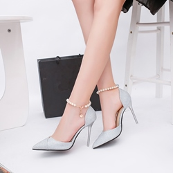 Beads Stiletto Heel Dress Sandals