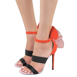 Color Block Open Toe Dress Sandals