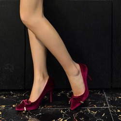 Sexy Bow Stiletto Heel Pumps