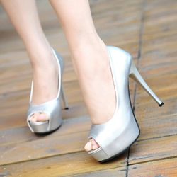 Platform Peep Toe High Stiletto Heels