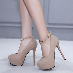 Line-Style Buckle High Platform Stiletto Heels