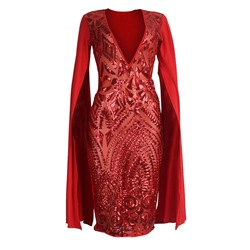 Shoespie Pullover Patchwork Sequins Women's Bodycon Dress