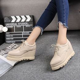 Solid Color Platform Women's Casual Shoes