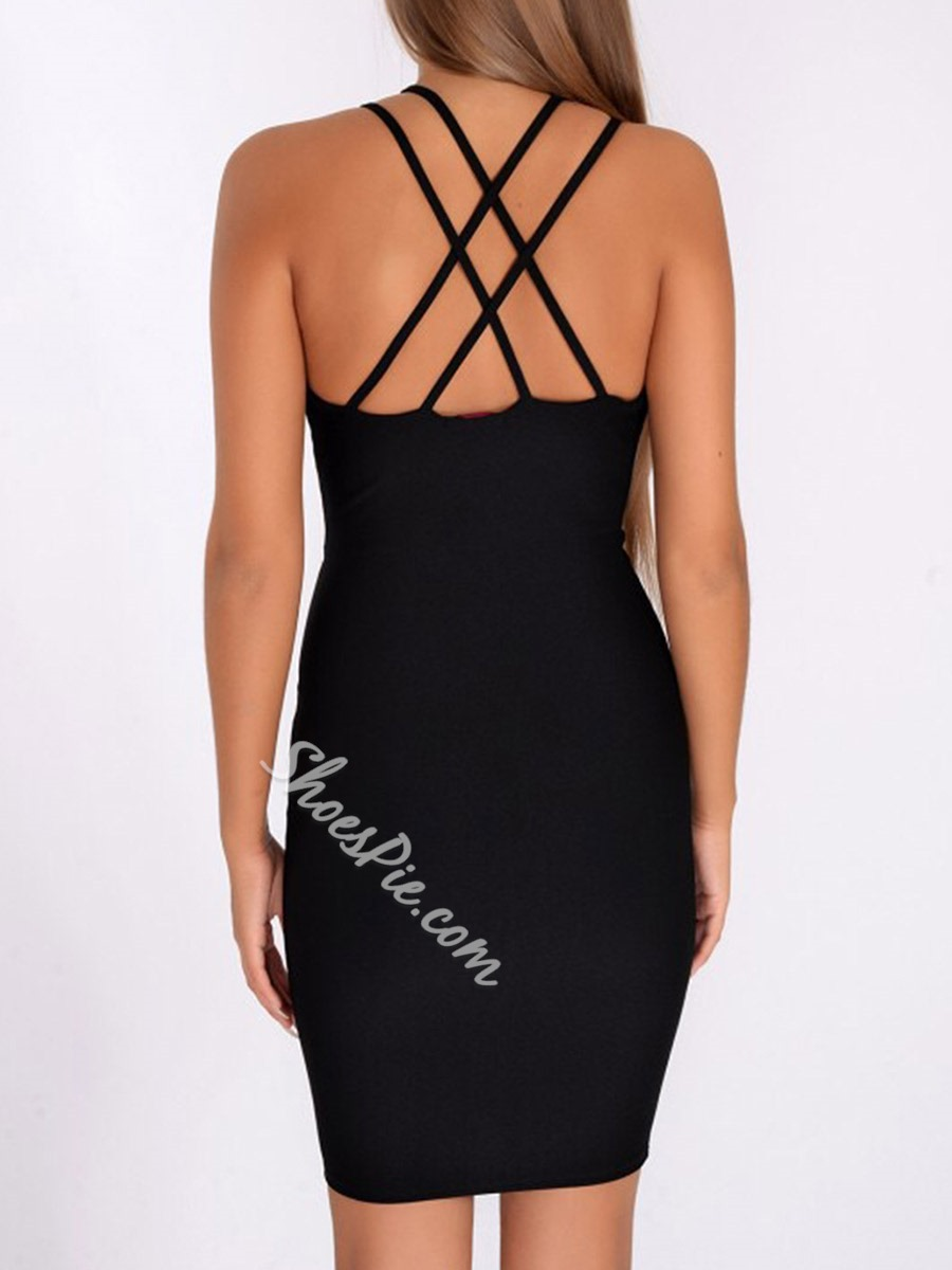 Sexy Backless Spaghetti Strap Bodycon Dresses