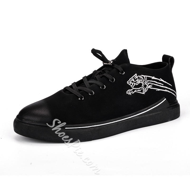 Casual Lace-Up Low-Cut Upper Men's Sneakers