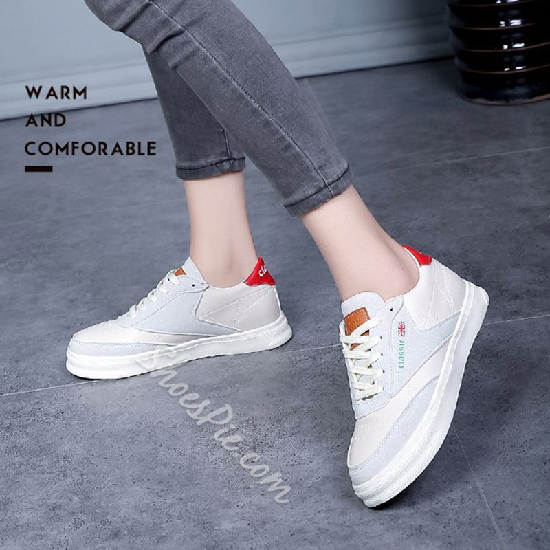 Hidden Elevator Heel Lace-Up Women's Sneakers