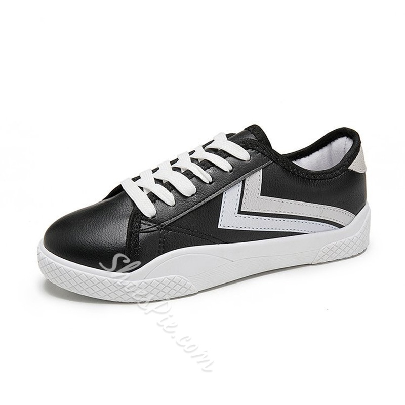 Lace Up Color Block Women's Sneakers