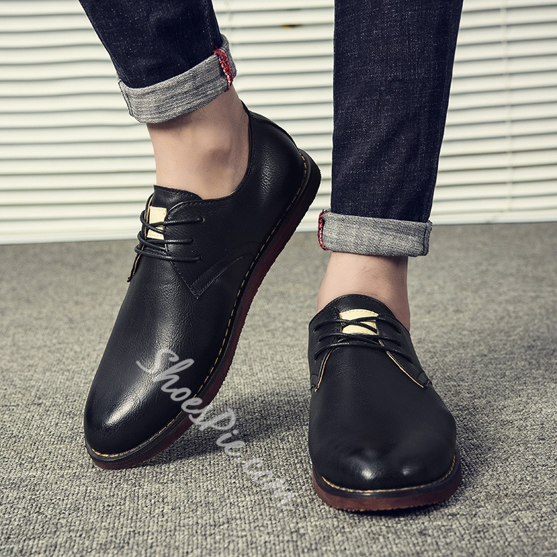 Casual Lace-Up Oxfords Men's Loafers