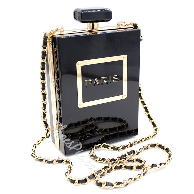 Shoespie Perfume Design Chain Mini Clutch