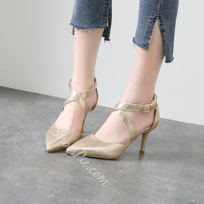 Strappy Buckle Sexy Stiletto Heels