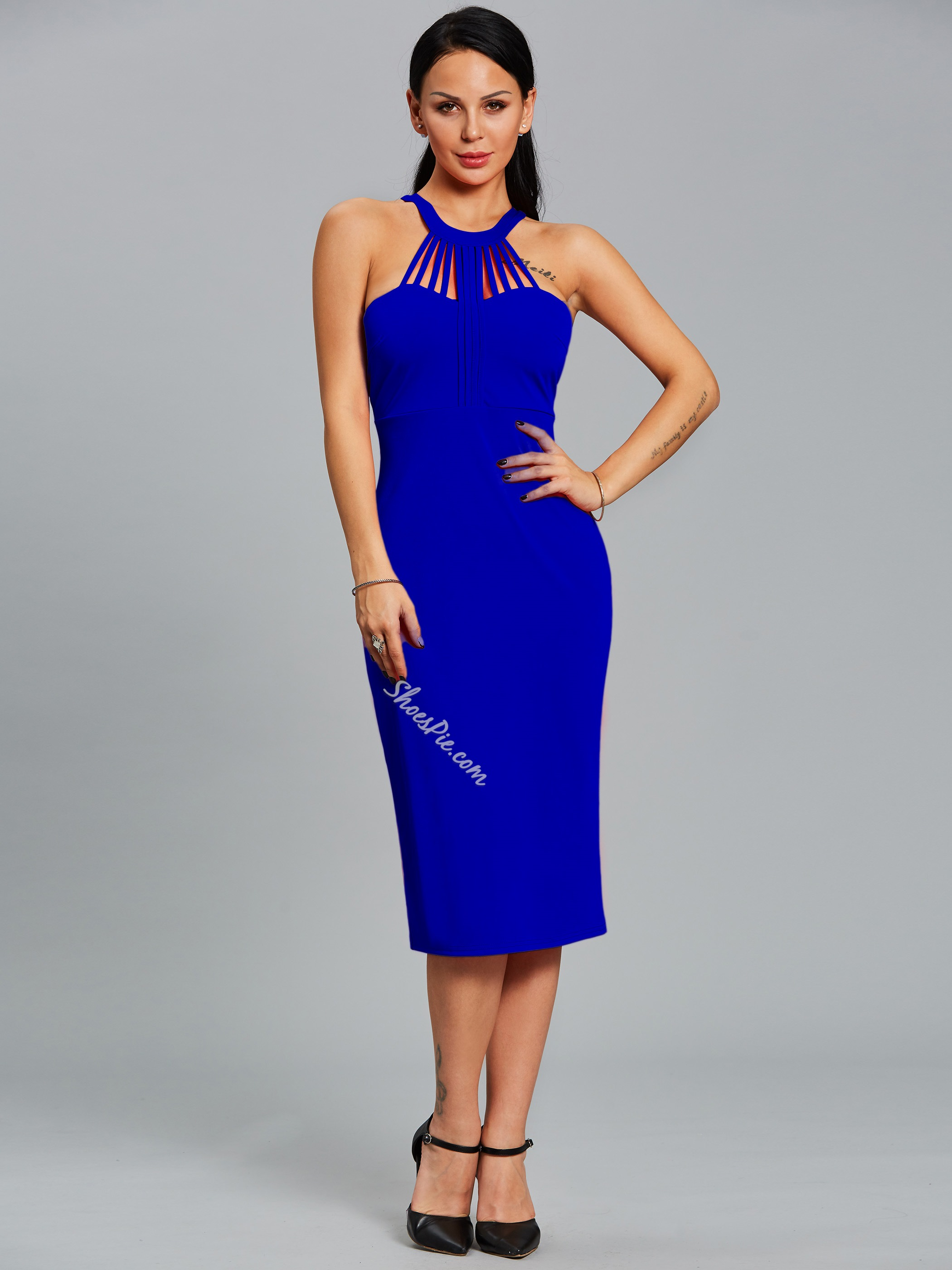 Shoespie Mid-Calf Sleeveless Bodycon Dresses