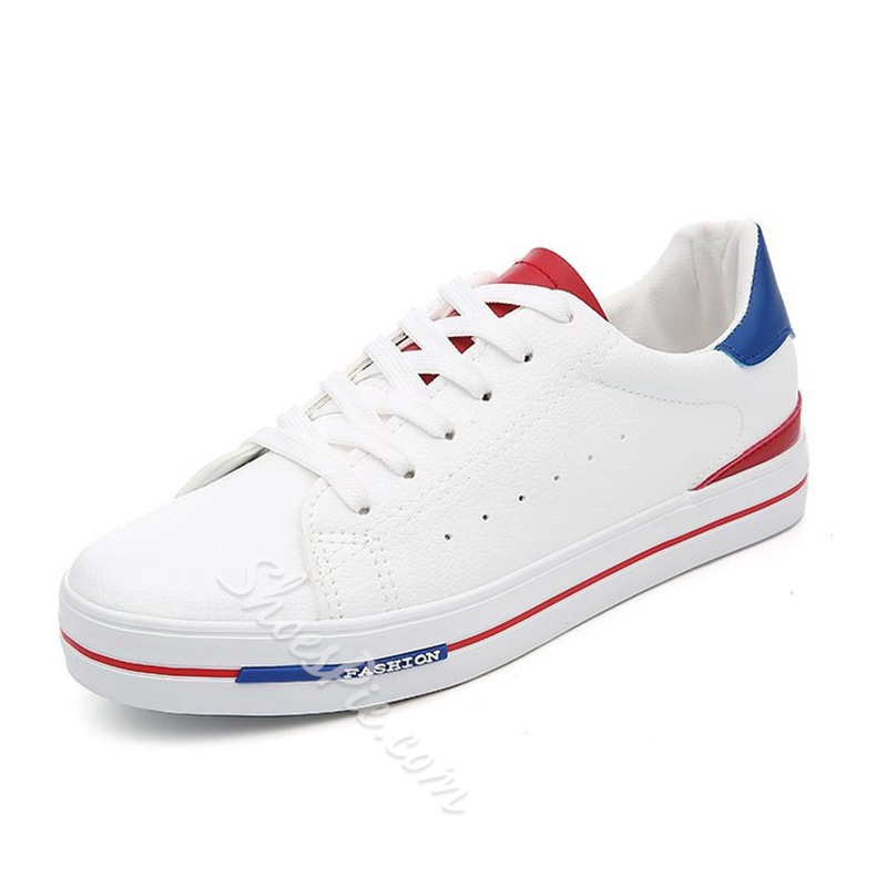 Shoespie Color Block Lace-Up Casual Shoes