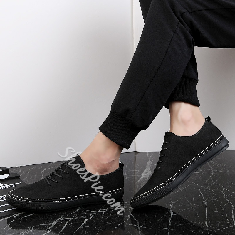 Casual Men's Loafers Lace-Up Sneakers