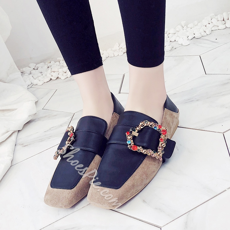Rhinestone Buckle Women's Casual Shoes