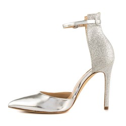 Sequin Line-Style Buckle Stiletto Heel Sandals