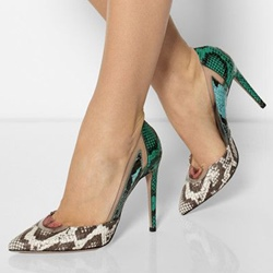 Sexy Print Slip-On Stiletto Heel Pumps
