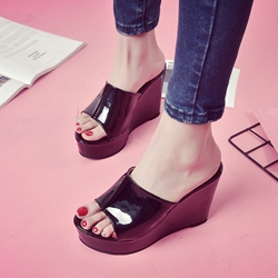 Platform Wedge Heel Women's Mules