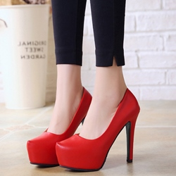 Slip-On Platform Stiletto Heels