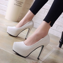 Sexy Solid Color Platform Stiletto Heels