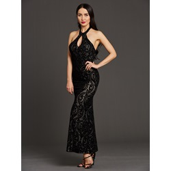 Backless Scoop Floor-Length Dresses
