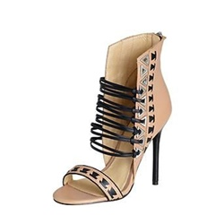 Open Toe Heel Covering Stiletto Heels