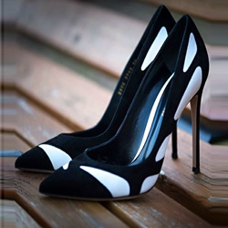 Patchwork Slip-On Stiletto Heels