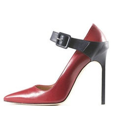 Buckle Red High Stiletto Heels