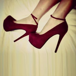 Burgundy Platform High Stiletto Heels