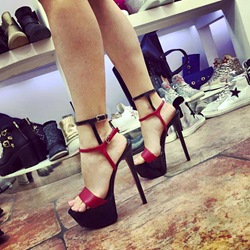 Color Block Platform High Stiletto Heel Sandals