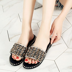 Rivet Slip-On Casual Flat Sandals