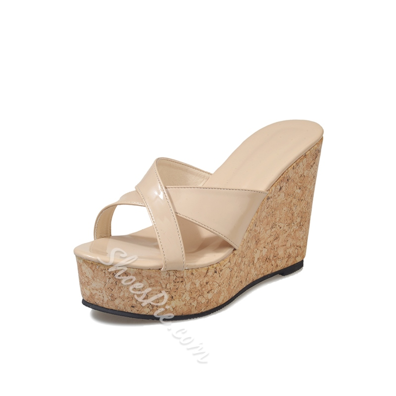 Slip-On Wedge Heel Women's Mules