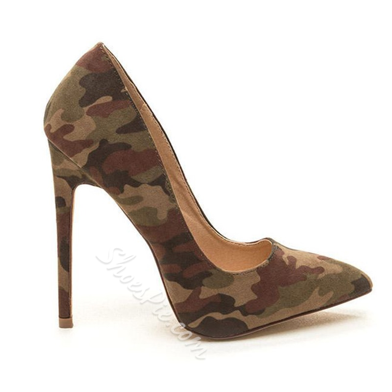 Camouflage Print High Stiletto Heels
