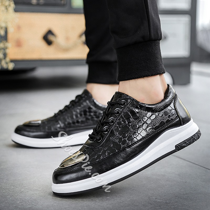 Spring Casual Sequin Lace-Up Men's Sneakers