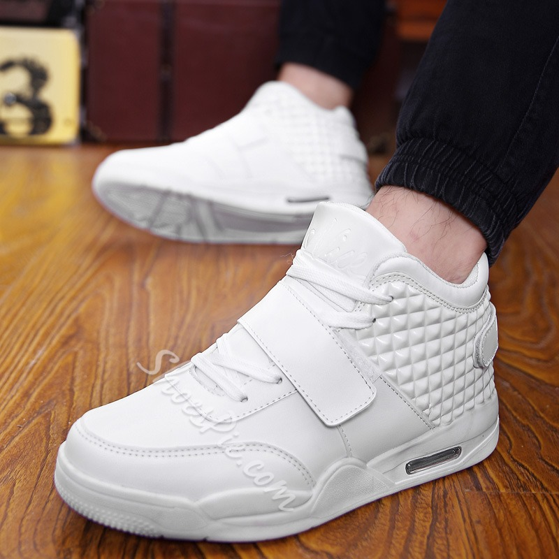 Casual Round Toe Lace-Up Velcro Men's Sneakers
