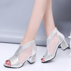 Rhinestone See-Through High Heels