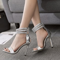 Open Toe Stiletto Heel Dress Sandals