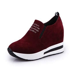 Solid Color Letter Print Women's Shoes