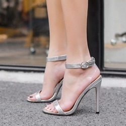 Jelly Open Toe Stiletto Heel Sandals