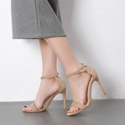 Line-Style Buckle Open Toe Sandals