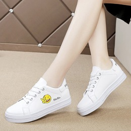 Print Letter Lace-Up Women's Sneakers