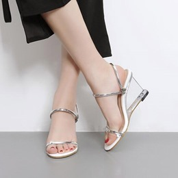 Slip-On Wedge Heel Dress Sandals