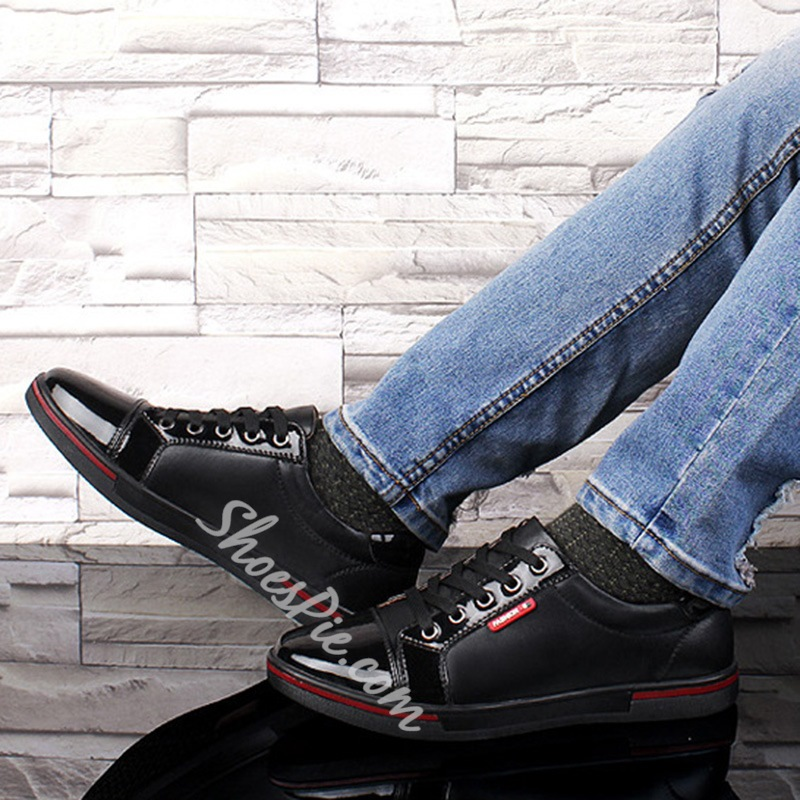 Men's Skate Shoes Lace-Up Sneakers