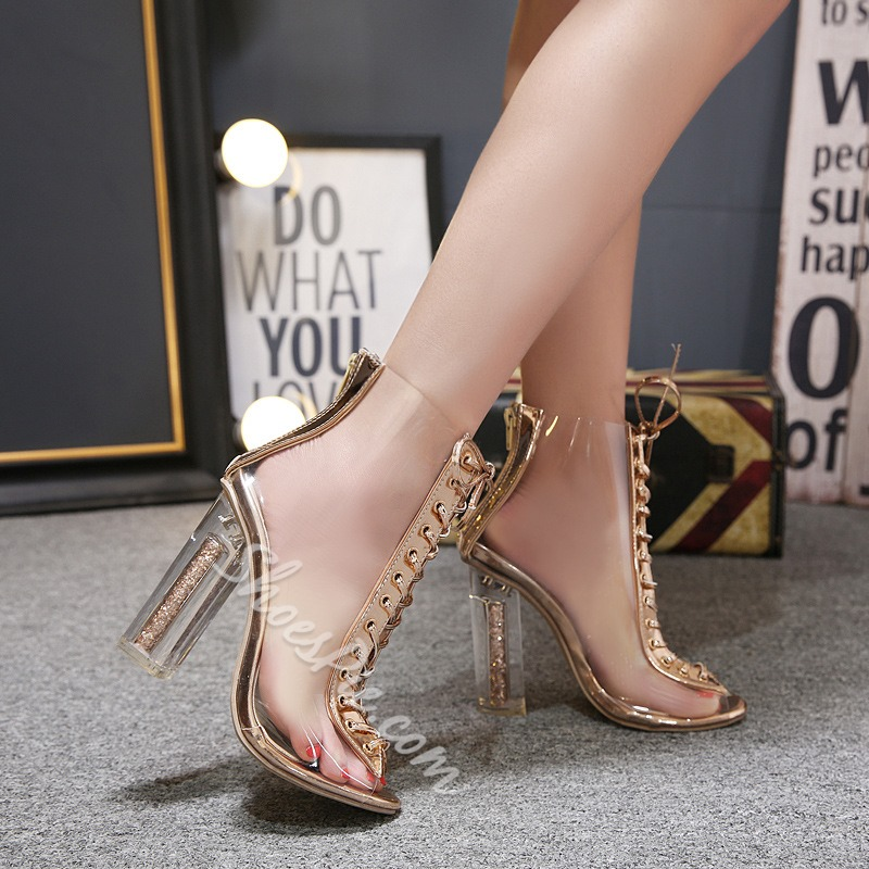 Jelly Sexy Cross Strap Hollow Dress Sandals