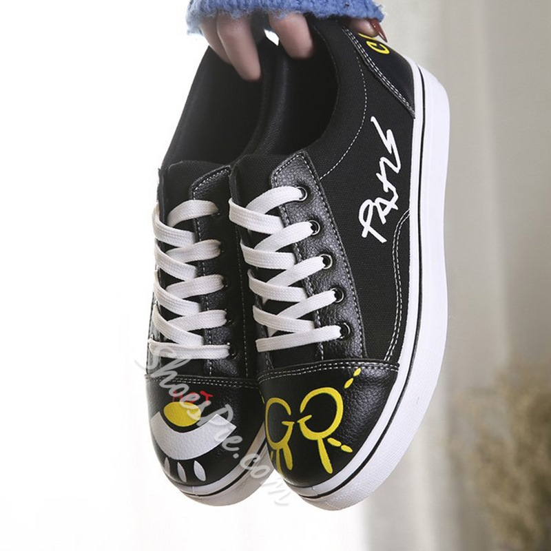 Print Lace-Up Women's Casual Shoes